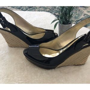 Guess Wedge Sandals Black